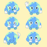 Earth Emotion. Collection of cute earth emotion Royalty Free Stock Images
