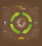 Earth energy efficiency royalty free illustration