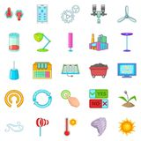 Earth energy icons set, cartoon style. Earth energy icons set. Cartoon set of 25 earth energy vector icons for web isolated on white background Royalty Free Illustration