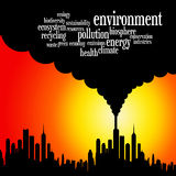 Earth environment. Caring about the environment of the earth (with relevant environmental issues Royalty Free Stock Photo