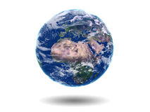 Earth Europe Africa Asia. On white background Stock Image