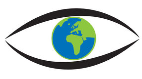 Earth in eye Royalty Free Stock Photography