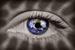Earth in eye Royalty Free Stock Image