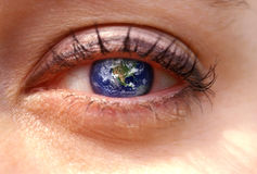 Earth Eye Stock Photo