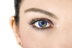 Earth eye Royalty Free Stock Photo