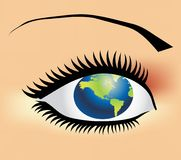 Earth eye Stock Images