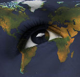 Earth eye Stock Image
