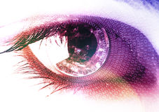 Earth in the eye Royalty Free Stock Photos