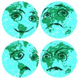 Earth faces Royalty Free Stock Images