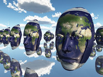 Earth faces Stock Photography