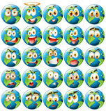 Earth with facial expression Royalty Free Stock Images