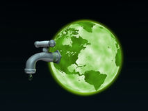 Earth Faucet Stock Image