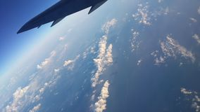 Flying sky high over Asia Stock Photography