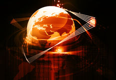 Earth with fiber optic Royalty Free Stock Image
