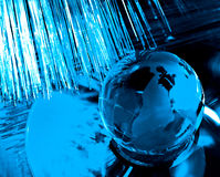 Earth and fiber optics Stock Images
