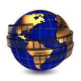 Earth film Stock Image