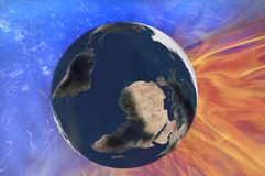 Earth fire Royalty Free Stock Photo