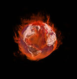 Earth on fire Royalty Free Stock Photo