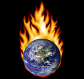 Earth on fire Royalty Free Stock Image