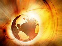 Earth in fire Royalty Free Stock Photography