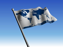 Earth flag Royalty Free Stock Image