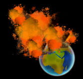 Earth in flames Stock Photos