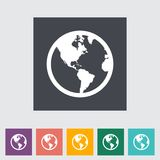 Earth flat icon. Royalty Free Stock Photo