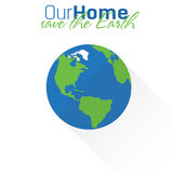 Earth flat icon Royalty Free Stock Image