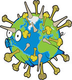 Earth Flu virus Royalty Free Stock Photos