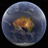 Earth focused on Australia Royalty Free Stock Image
