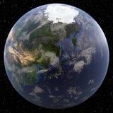 Earth focused on the Far East vector illustration