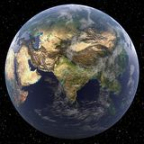 Earth focused on South Asia. Viewed from space Royalty Free Stock Photography