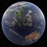 Earth focused on South East Asia. Viewed from space Stock Image