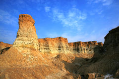 Earth forest. The picture was taken at Datong city, Shanxi Province China.Because of soil erosion, this part of the Loess Plateau become earth forest Stock Image