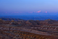 Earth Forest Geopark At Sunrise In Zhada County, Tibet Royalty Free Stock Image