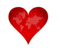 Earth in form of heart Royalty Free Stock Image