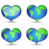 Earth in form of heart Royalty Free Stock Photography