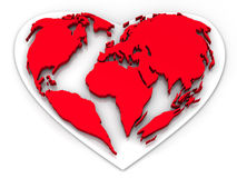 Earth in the form of heart Stock Image