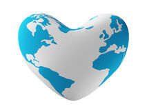 Earth in form of heart. Stock Photos