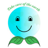 Earth in the form of a smiley face. Take care of the planet. Stock Photo