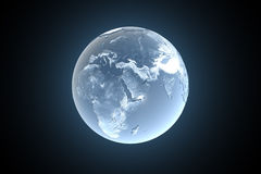 The Earth - freezing. Ice age - climatic disaster 3d Stock Images