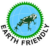 Earth friendly symbol icon royalty free stock image