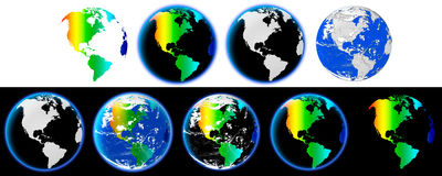 Earth full of colors Royalty Free Stock Photo