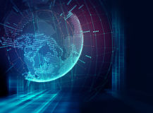 Earth futuristic technology abstract background Royalty Free Stock Photo
