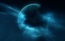 Earth futuristic technology abstract background Stock Images