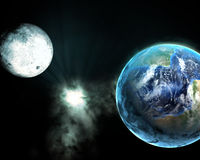 Earth and galaxy Stock Image