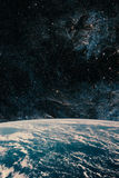 Earth and galaxy. Night Sky Space Stock Photos