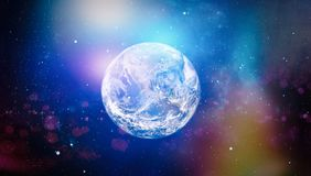 Earth, galaxy and sun. Elements of this image furnished by NASA. Royalty Free Stock Photo