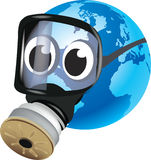 Earth with gas mask Royalty Free Stock Image