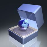Earth in gift box Royalty Free Stock Photography